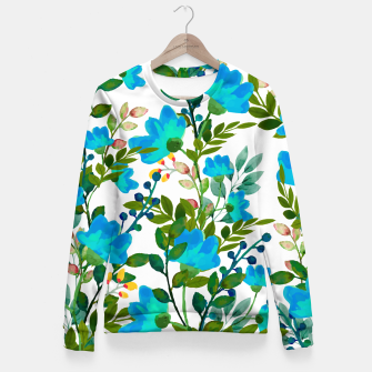Thumbnail image of Blue Fitted Waist Sweater, Live Heroes