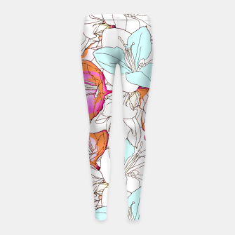 Thumbnail image of Early Bloomer Girl's Leggings, Live Heroes