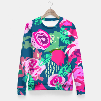 Royal Roses Fitted Waist Sweater thumbnail image