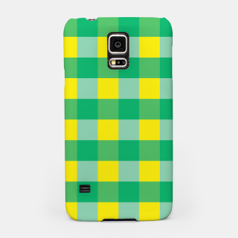 Imagen en miniatura de Green,Yellow & Blue Checked Pattern Samsung Case, Live Heroes