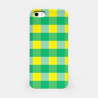 Imagen en miniatura de Green,Yellow & Blue Checked Pattern iPhone Case, Live Heroes