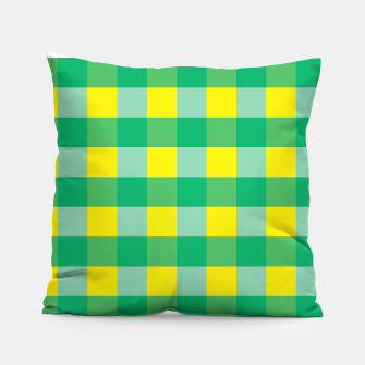 Imagen en miniatura de Green,Yellow & Blue Checked Pattern Pillow, Live Heroes