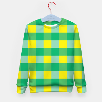 Imagen en miniatura de Green,Yellow & Blue Checked Pattern Kid's Sweater, Live Heroes