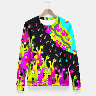 Thumbnail image of Earthlings Fitted Waist Sweater, Live Heroes