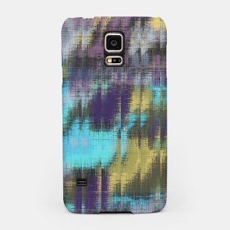 psychedelic geometric abstract pattern in blue yellow purple Samsung Case Bild der Miniatur