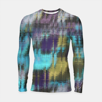 Miniature de image de psychedelic geometric abstract pattern in blue yellow purple Longsleeve Rashguard , Live Heroes