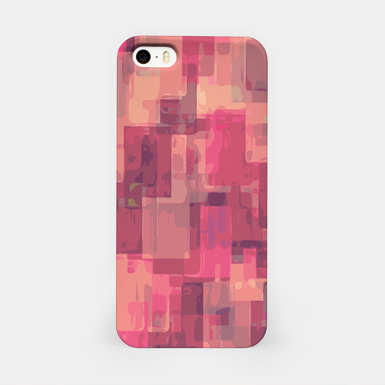 Zdjęcie psychedelic geometric square pattern abstract in pink and purple iPhone Case - Live Heroes