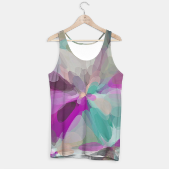 circle pattern abstract background in pink green brown Tank Top obraz miniatury
