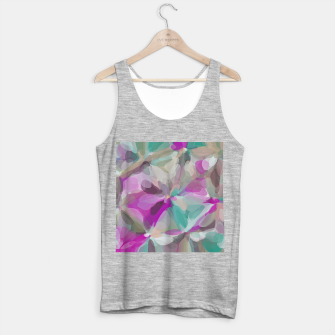 circle pattern abstract background in pink green brown Tank Top regular obraz miniatury