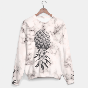 Thumbnail image of Marble Texture Seamless Pattern Pineapple 052 Sweater, Live Heroes