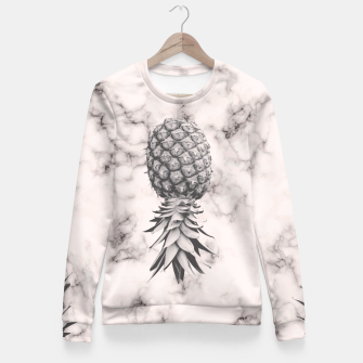 Miniaturka Marble Texture Seamless Pattern Pineapple 052 Fitted Waist Sweater, Live Heroes