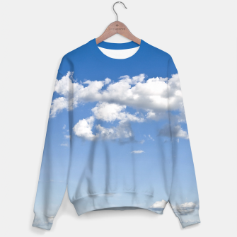 Thumbnail image of White Summer Clouds and Blue Sky Sweater, Live Heroes