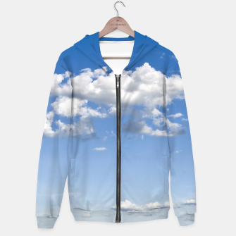 Thumbnail image of White Summer Clouds and Blue Sky Hoodie, Live Heroes