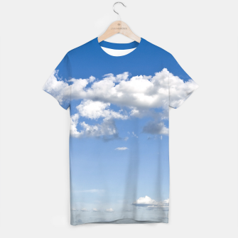 Thumbnail image of White Summer Clouds and Blue Sky T-shirt, Live Heroes