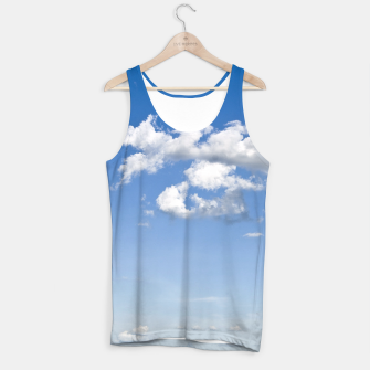 Thumbnail image of White Summer Clouds and Blue Sky Tank Top, Live Heroes