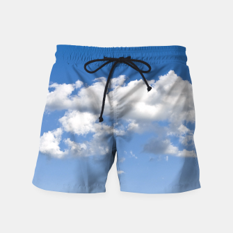 Thumbnail image of White Summer Clouds and Blue Sky Swim Shorts, Live Heroes