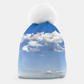 Thumbnail image of White Summer Clouds and Blue Sky Beanie, Live Heroes