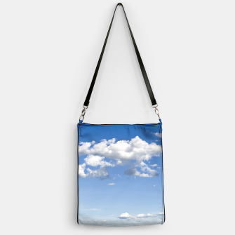 Thumbnail image of White Summer Clouds and Blue Sky Handbag, Live Heroes