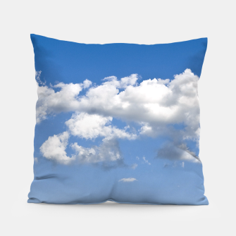 Thumbnail image of White Summer Clouds and Blue Sky Pillow, Live Heroes