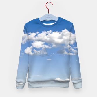 Thumbnail image of White Summer Clouds and Blue Sky Kid's Sweater, Live Heroes