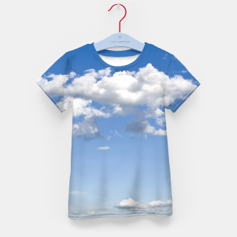 Thumbnail image of White Summer Clouds and Blue Sky Kid's T-shirt, Live Heroes