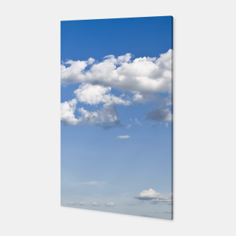 Thumbnail image of White Summer Clouds and Blue Sky Canvas, Live Heroes