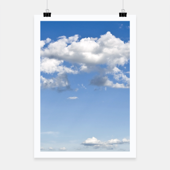 Thumbnail image of White Summer Clouds and Blue Sky Poster, Live Heroes