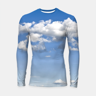 Miniaturka White Summer Clouds and Blue Sky Longsleeve Rashguard , Live Heroes