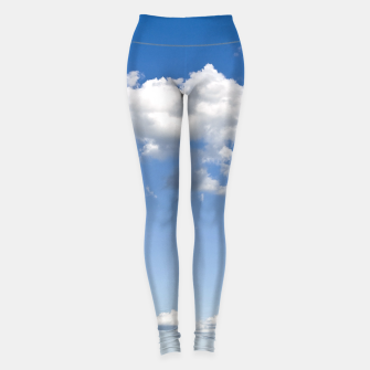 Miniaturka White Summer Clouds and Blue Sky Leggings, Live Heroes
