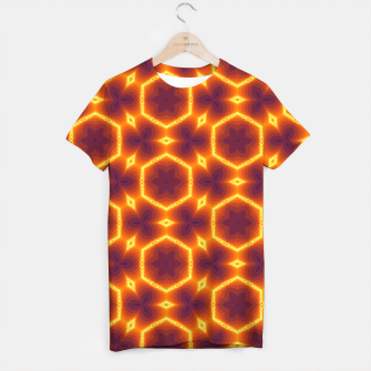 Miniatur Vibrant Patterned T-shirt for Men, Live Heroes