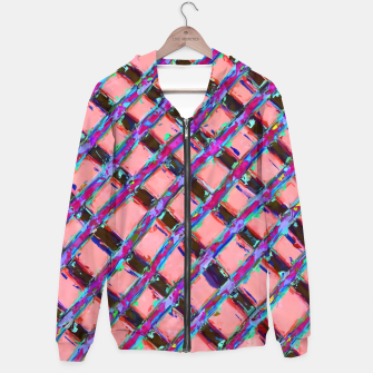 line pattern painting abstract background in pink blue purple Hoodie obraz miniatury