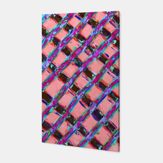 line pattern painting abstract background in pink blue purple Canvas obraz miniatury