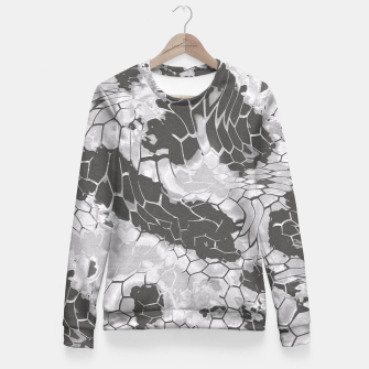 Miniatur Stone Dragon Camouflage Fitted Waist Sweater, Live Heroes