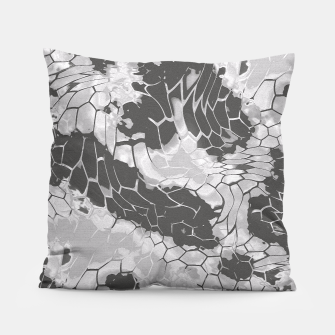 Miniatur Stone Dragon Camouflage Pillow, Live Heroes
