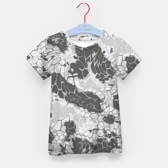 Miniatur Stone Dragon Camouflage Kid's T-shirt, Live Heroes