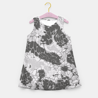 Miniatur Stone Dragon Camouflage Girl's Summer Dress, Live Heroes