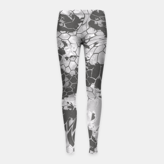 Miniatur Stone Dragon Camouflage Girl's Leggings, Live Heroes