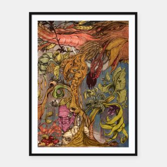 Miniaturka imaginations mind (Tree of  life)  Framed poster, Live Heroes