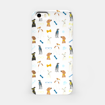 Thumbnail image of Sighthound Pattern Blue iPhone Case, Live Heroes