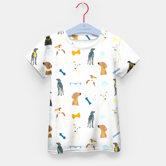 Thumbnail image of Sighthound Pattern Blue Kid's T-shirt, Live Heroes