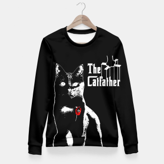 Thumbnail image of The Catfather Taillierte Sweatshirt, Live Heroes