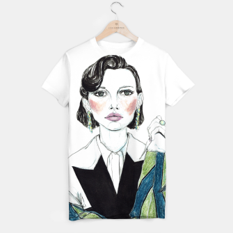 Thumbnail image of Millie Bobby Brown__Fashion Illustration T-shirt, Live Heroes