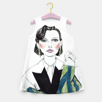 Thumbnail image of Millie Bobby Brown__Fashion Illustration Girl's Summer Dress, Live Heroes