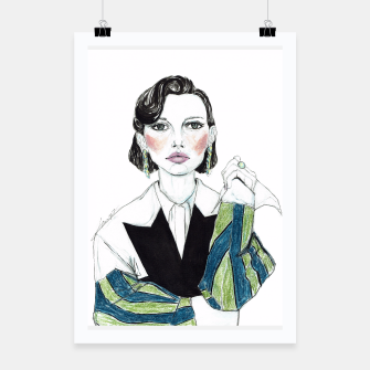 Thumbnail image of Millie Bobby Brown__Fashion Illustration Poster, Live Heroes