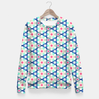 Thumbnail image of Geometric Web 01 Fitted Waist Sweater, Live Heroes