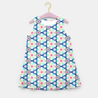 Thumbnail image of Geometric Web 01 Girl's Summer Dress, Live Heroes