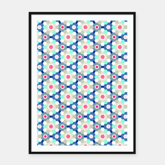 Thumbnail image of Geometric Web 01 Framed poster, Live Heroes