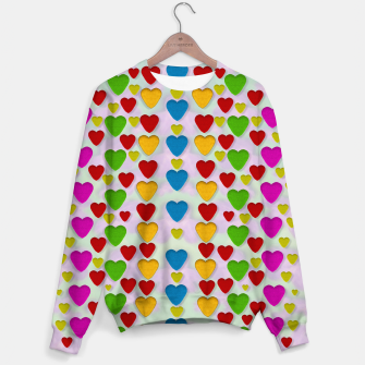 Miniatur So sweet and hearty as love can be pop art Sweater, Live Heroes