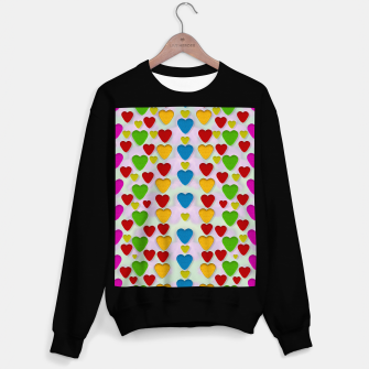 Miniatur So sweet and hearty as love can be pop art Sweater regular, Live Heroes