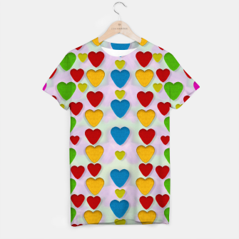 Miniatur So sweet and hearty as love can be pop art T-shirt, Live Heroes